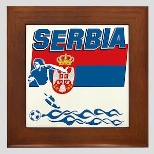 Serbian soccer Framed Tile