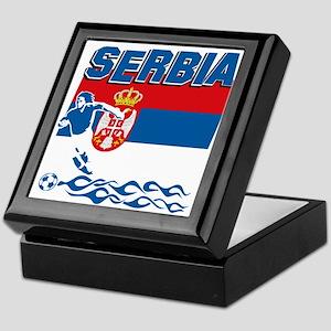 Serbian soccer Keepsake Box