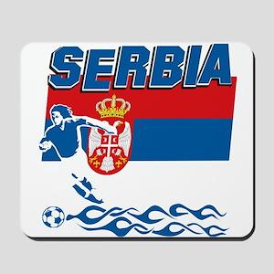 Serbian soccer Mousepad