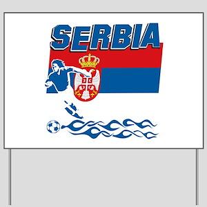 Serbian soccer Yard Sign