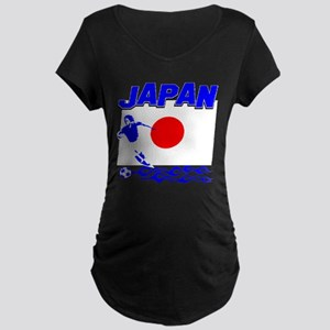 Japanese soccer Maternity Dark T-Shirt