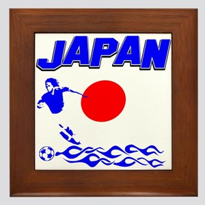 Japanese soccer Framed Tile