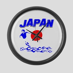 Japanese soccer Large Wall Clock