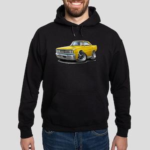 1967 Coronet Yellow Car Hoodie (dark)