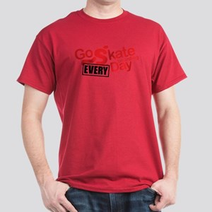 go skateboarding every day Dark T-Shirt
