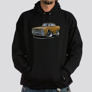 1967 Coronet Gold Car Hoodie (dark)