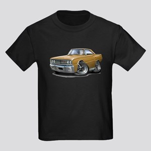 1967 Coronet Gold Car Kids Dark T-Shirt