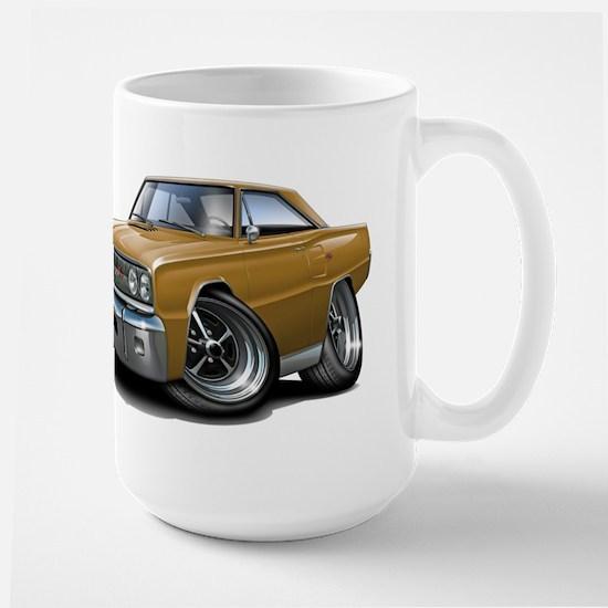 1967 Coronet Gold Car Large Mug