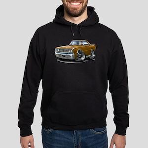 1967 Coronet Brown Car Hoodie (dark)