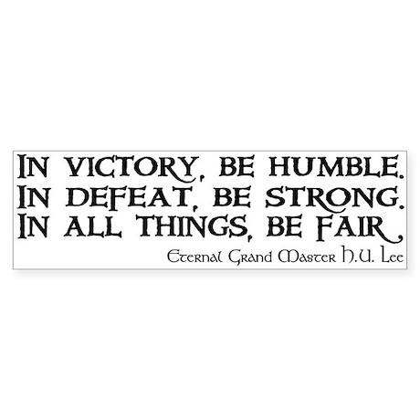 HU Lee quote Sticker (Bumper)
