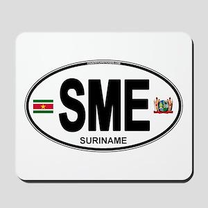 Suriname Euro Oval Mousepad