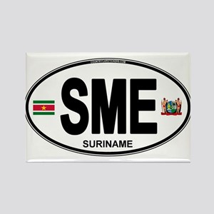 Suriname Euro Oval Rectangle Magnet