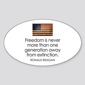 Freedom is never more... Sticker (Oval)