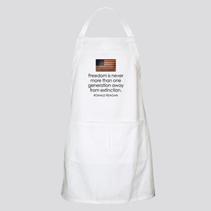 Freedom is never more... Apron