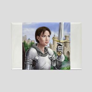 Joan of Arc Rectangle Magnet
