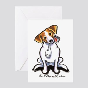 Jack Sock Off-Leash Art™ Greeting Card