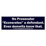 Exoneration Sticker (Bumper)