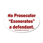 Exoneration 20x12 Oval Wall Decal