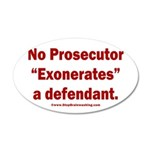 Exoneration 35x21 Oval Wall Decal