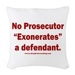 Exoneration Woven Throw Pillow