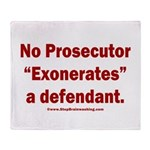 Exoneration Throw Blanket