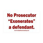Exoneration 35x21 Wall Decal