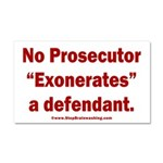 Exoneration Car Magnet 20 x 12