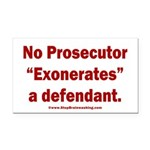 Exoneration Rectangle Car Magnet