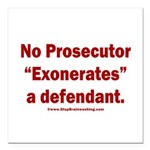 Exoneration Square Car Magnet 3