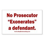 Exoneration Sticker (Rectangle)