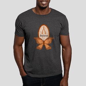 Believe- Orange Ribbon Dark T-Shirt
