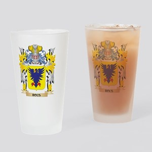 Rous Family Crest - Coat of Arms Drinking Glass