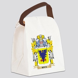 Rous Family Crest - Coat of Arms Canvas Lunch Bag