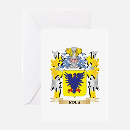 Rous Family Crest - Coat of Arms Greeting Cards
