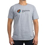 Riding a Canoe Men's Fitted T-Shirt (dark)