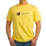 Riding a Canoe Yellow T-Shirt