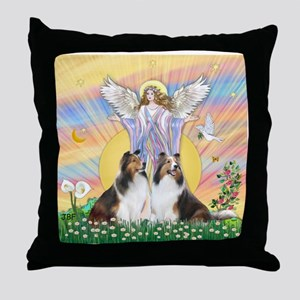 Blessings / 2 Shelties Throw Pillow