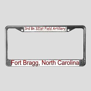 3rd Bn 321st FA License Plate Frame
