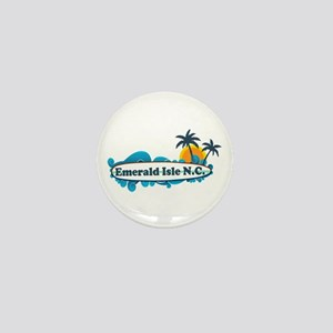 Emerald Isle NC - Surf Design Mini Button