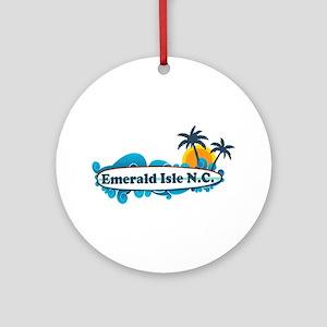 Emerald Isle NC - Surf Design Ornament (Round)
