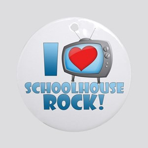 I Heart Schoolhouse Rock Round Ornament