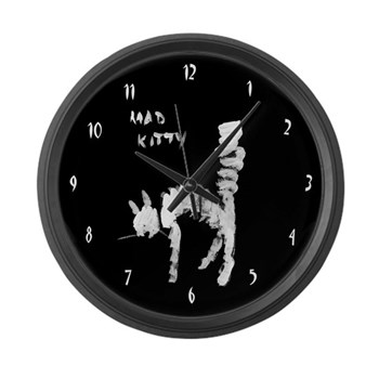 Mad Kitty Large Wall Clock