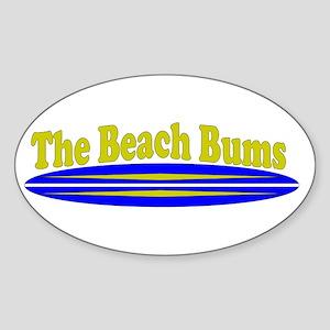 The Beach Bums Sticker (Oval)