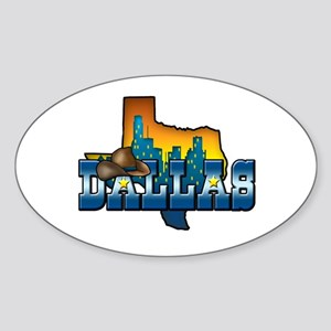 Dallas Sticker (Oval)