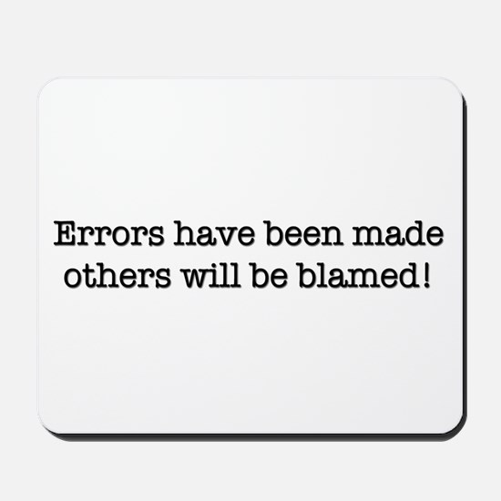 Errors have been made Mousepad