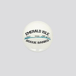 Emerald Isle NC - Map Design Mini Button