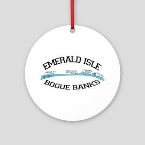 Emerald Isle NC - Map Design Ornament (Round)