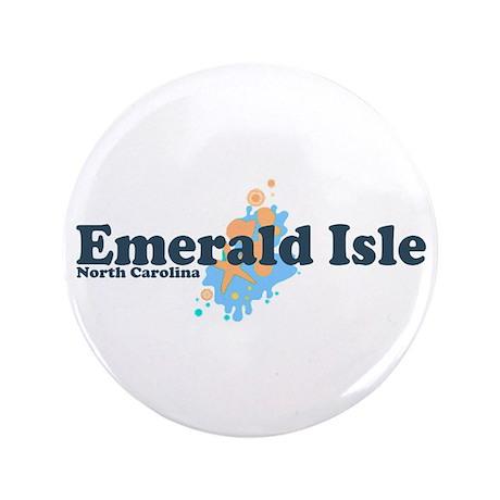 """Emerald Isle NC - Seashells Design 3.5"""" Butto"""