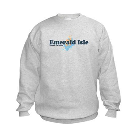 Emerald Isle NC - Seashells Design Kids Sweatshirt