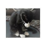 Tuxedo Kitten Throw Blanket